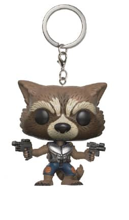 ROCKET RACCOON LLAVERO FIG 4 CM POCKET POP GUA...
